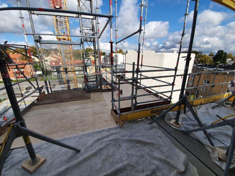 Byggställning i Norrtälje Hamn